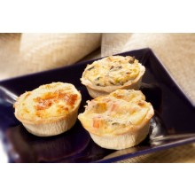 Mini Quiche Peito de Peru c Cream Cheese c 04 unids